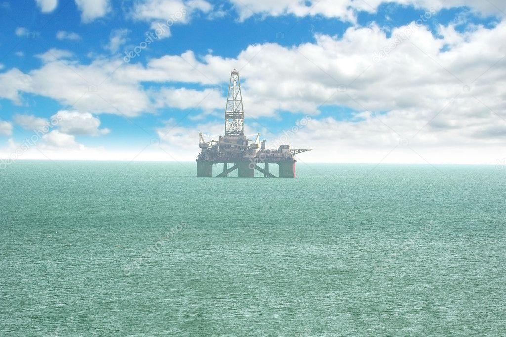 Oil platform offshore Baku