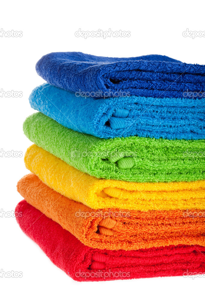 Colour terry towels combined by pile