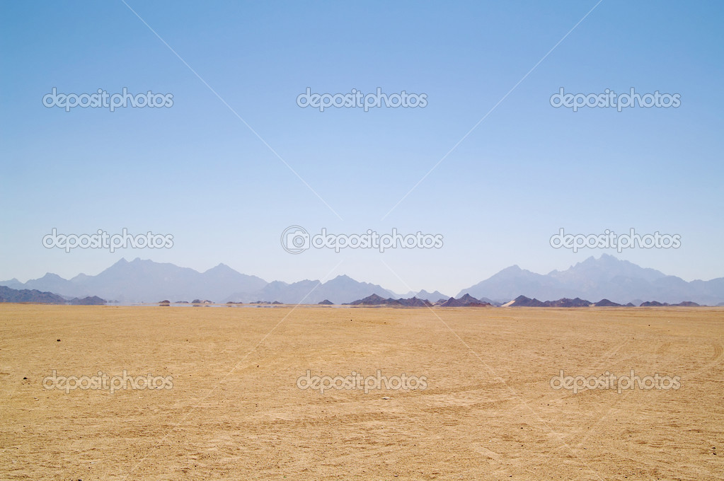 Mirage in desert