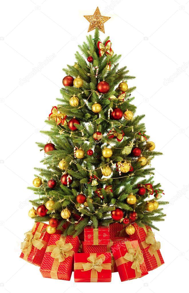 Wieso Tannenbaum Weihnachten.Weihnachten Tannenbaum Mit Bunten Lichtern Stockfoto Irochka