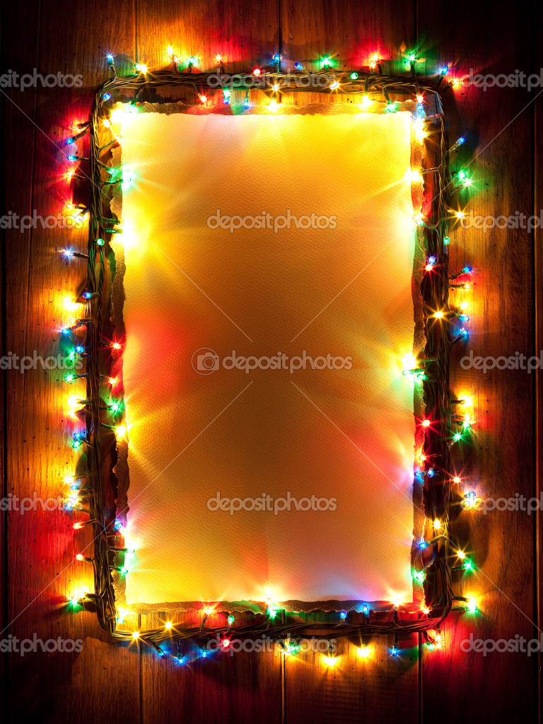 christmas lights abstract color background photo by irochka - Amber Christmas Lights