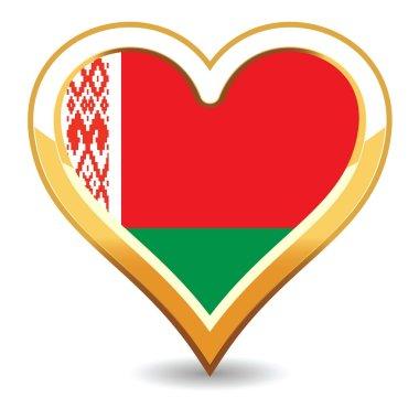 Heart Belarus Flag