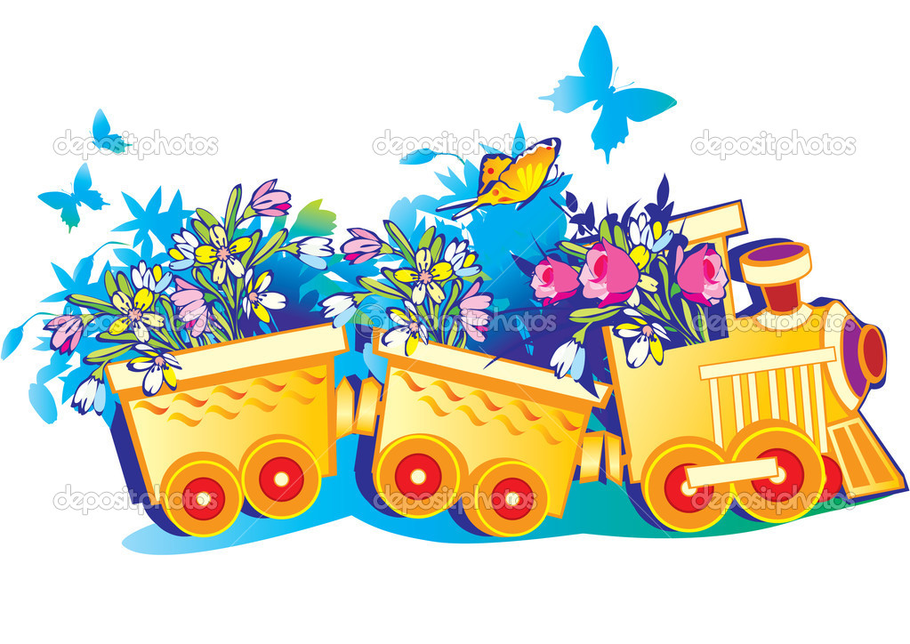 Днем комсомола, открытка с вагоном
