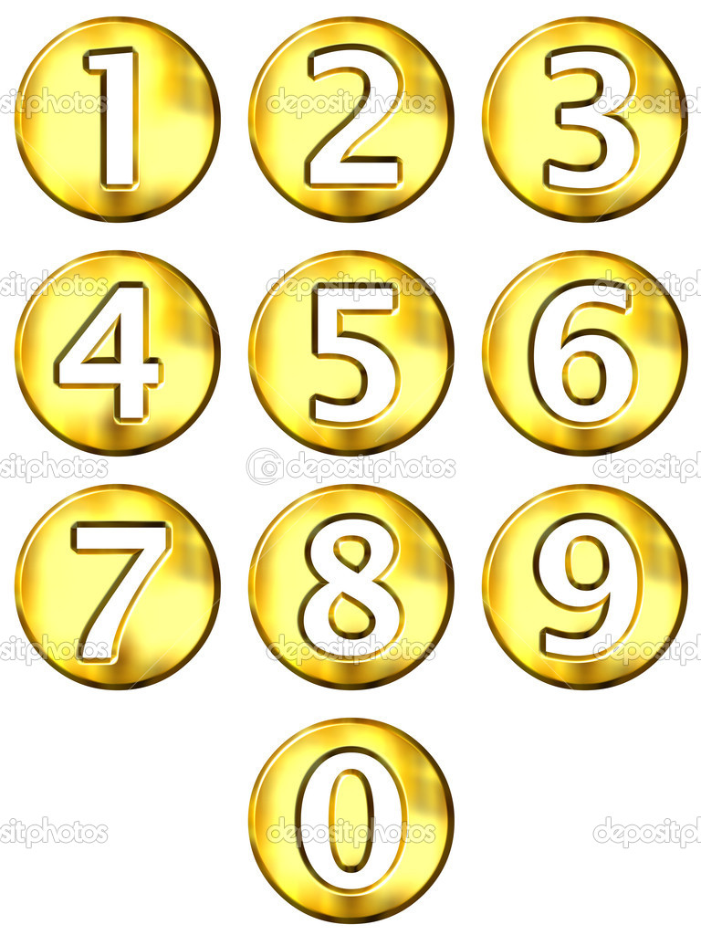 3d Golden Framed Numbers  U2014 Stock Photo  U00a9 Georgios  1196277