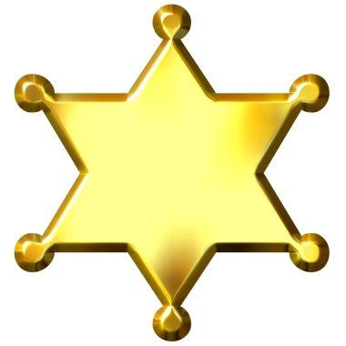 3D Golden Sheriff