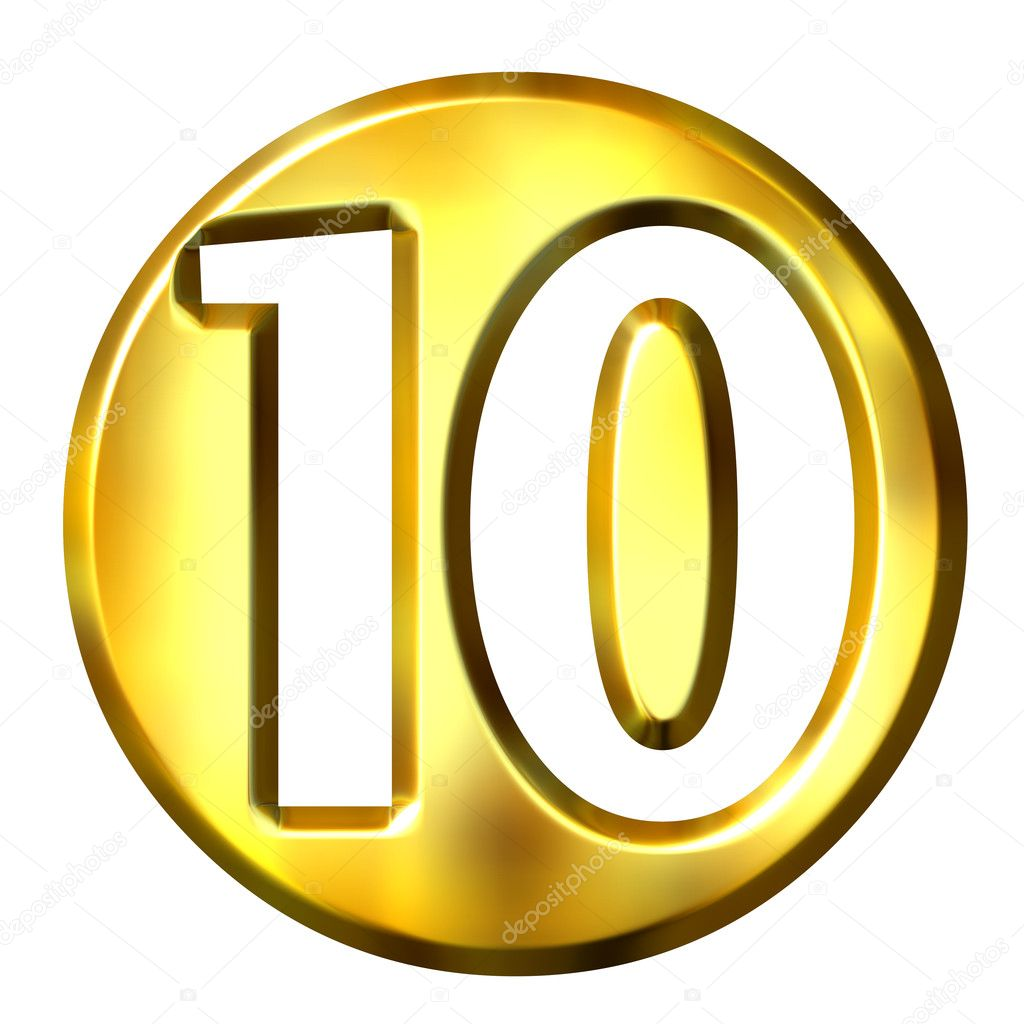3D Golden Framed Number 10 Stock Photo by ©georgios 1222200