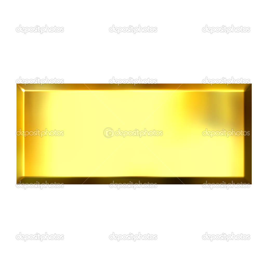 3D Golden Square Button — Stock Photo © georgios #1222430
