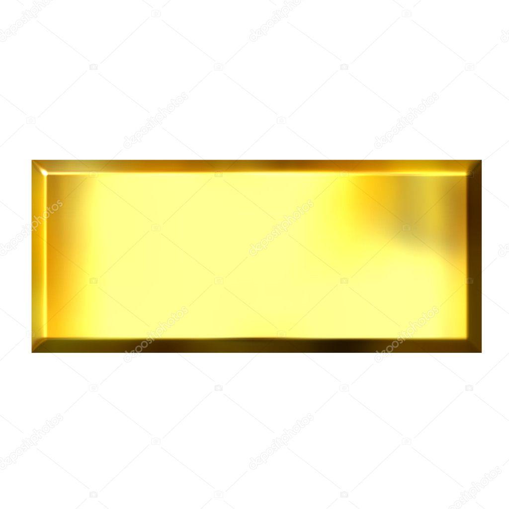 3D Golden Square Button — Stock Photo © georgios #1222430