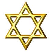 Photo 3D Golden Star of David