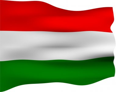 3D Flag of Hungary