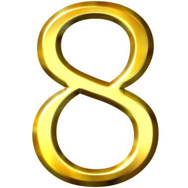 3d golden number 8