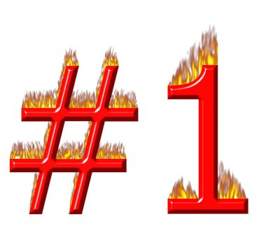 Number 1 on fire