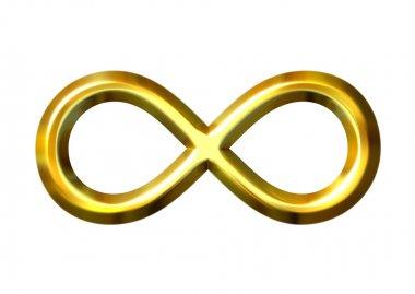 3D Golden Infinity Symbol