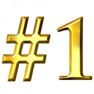 3D Golden Number 1