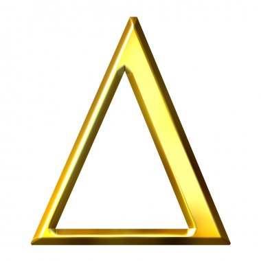 3D Golden Greek Letter Delta