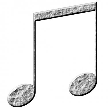 3D Stone Eighth Notes