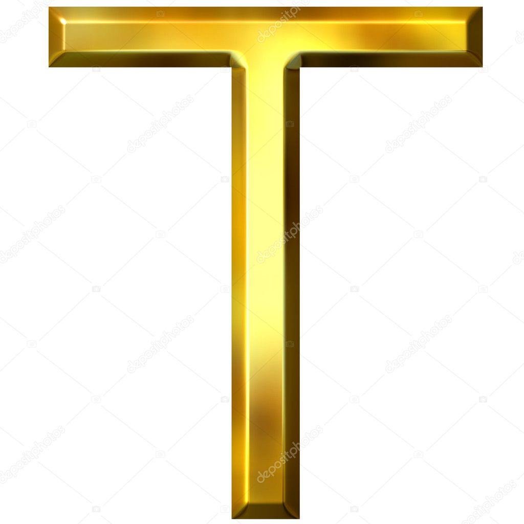3D goldene Buchstabe t — Stockfoto © georgios #1394938