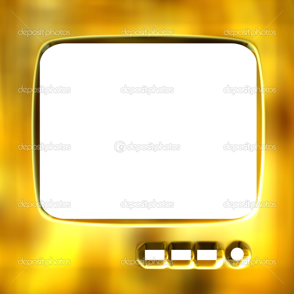 3d Goldener Tv Rahmen Stockfoto C Georgios 1395140