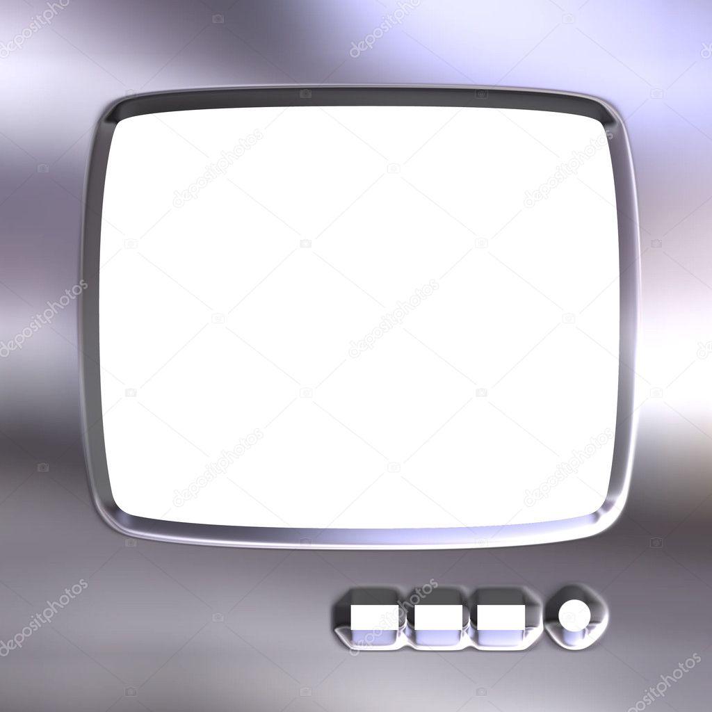 Silver TV Frame — Stock Photo © georgios #1395148