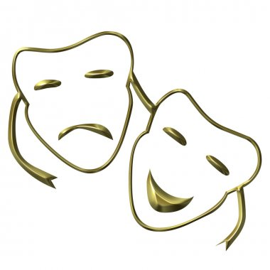 Theatrical masks of drama and comedy