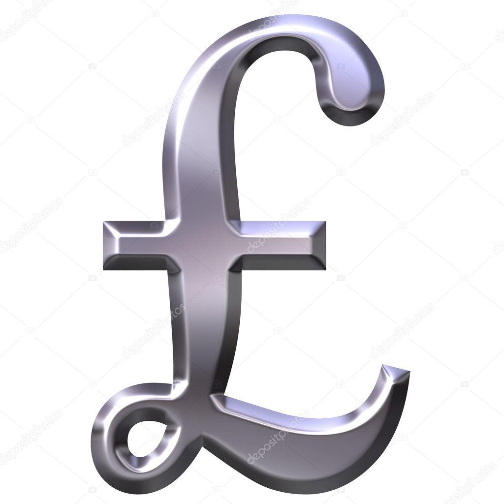 3d Silver British Pound Symbol Stock Photo Georgios 1403546