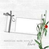 Fotografie White frame with poppy