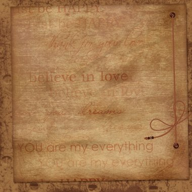 Vintage background with love word art