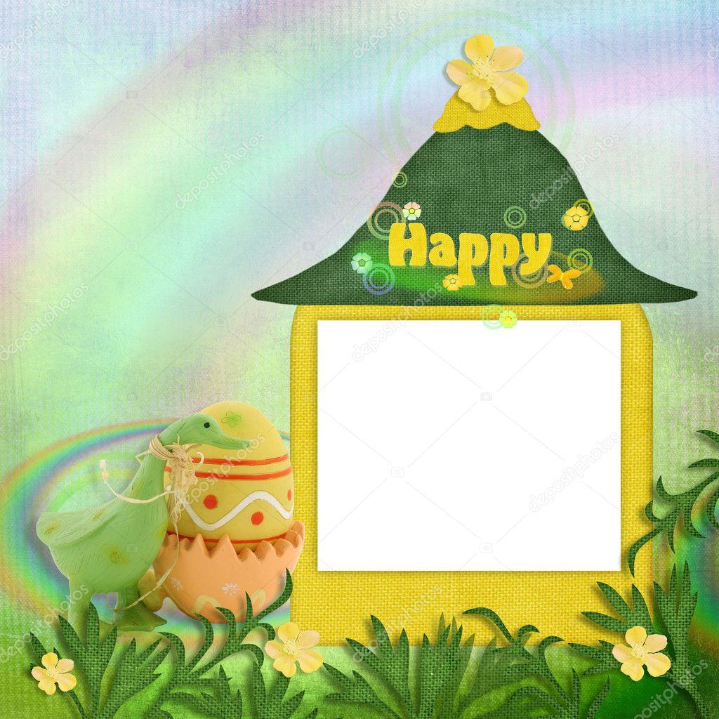rainbow easter frames stock photo 1279891 - Easter Photo Frames