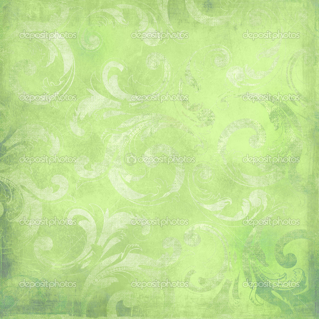 Green victorian background with space for text or image