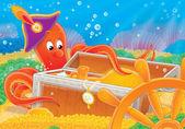 chobotnice a poklady