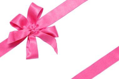 Gift pink ribbon and bow