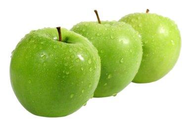 Three green apple