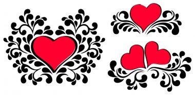 Vector valentine heart design elements. clip art vector
