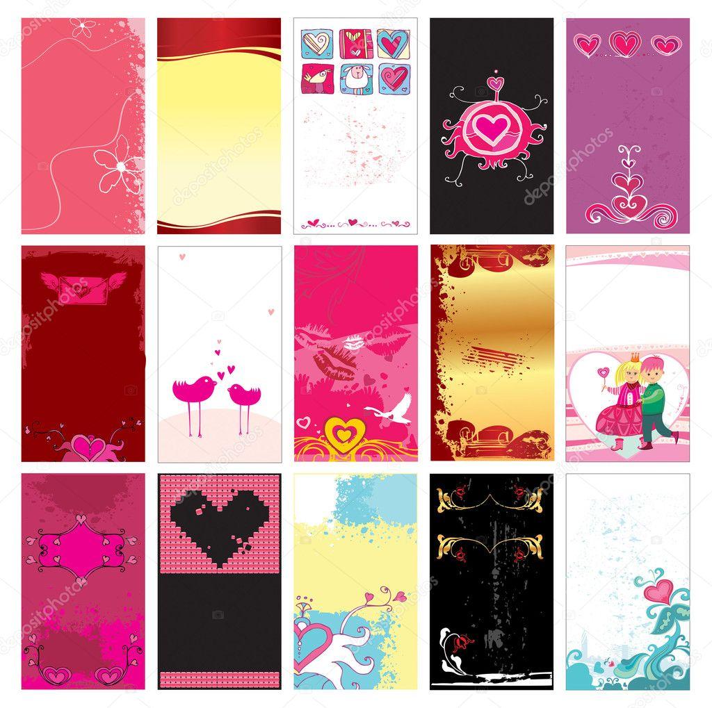 Valentinstag Karten Vorlagen — Stockvektor © dianka #1613329
