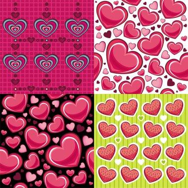 Valentine seamless backgrounds