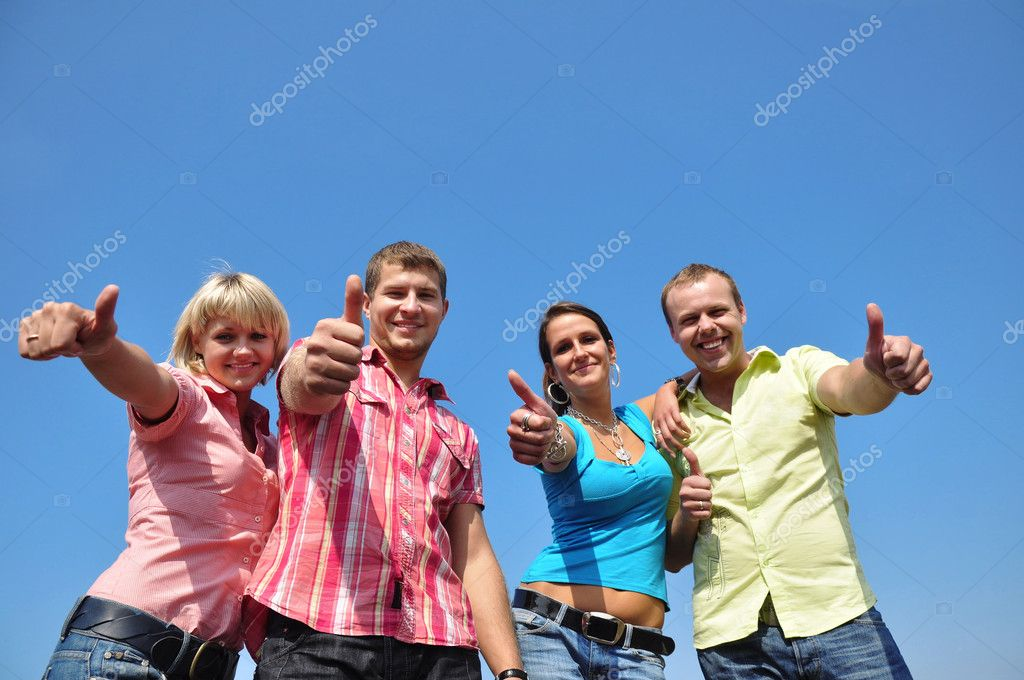 Group of four friends