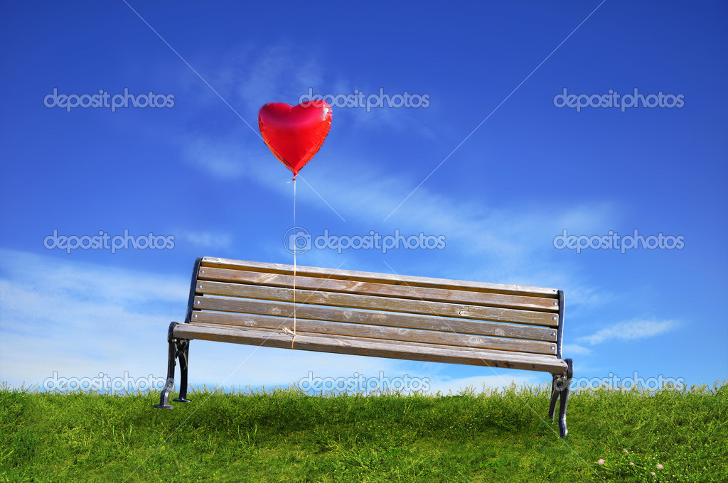 Benches and a balloon