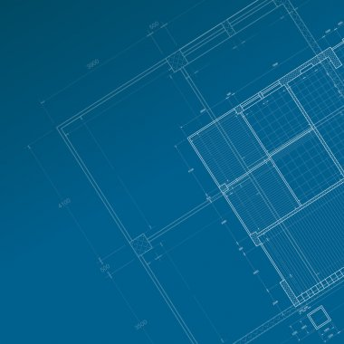 Conceptual blueprint. My personal architectural project. Concept stock vector