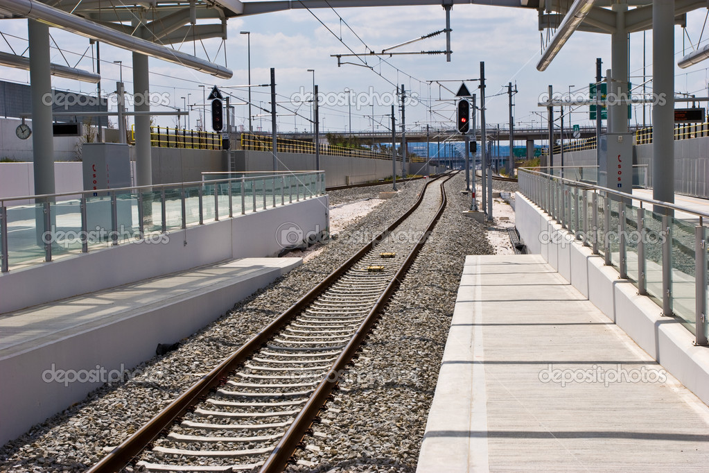 Transport series: new railway station with semaphore