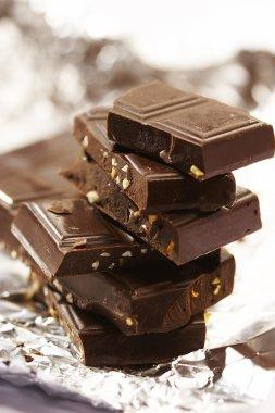 Slab chocolate with nut