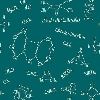 Chemical formulas seamless