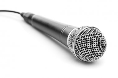 Microphone isolated on white stock vector
