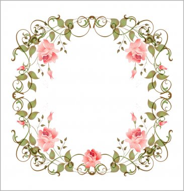 Vintage floral frame. Vector illustration EPS 10 clip art vector
