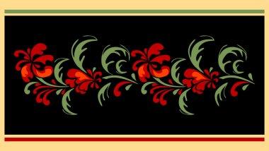 Floral designe for carpet