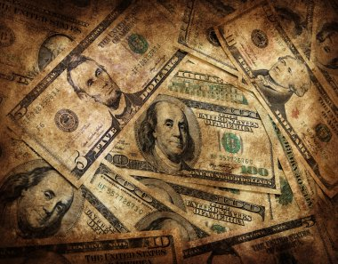 Grunge Money Background