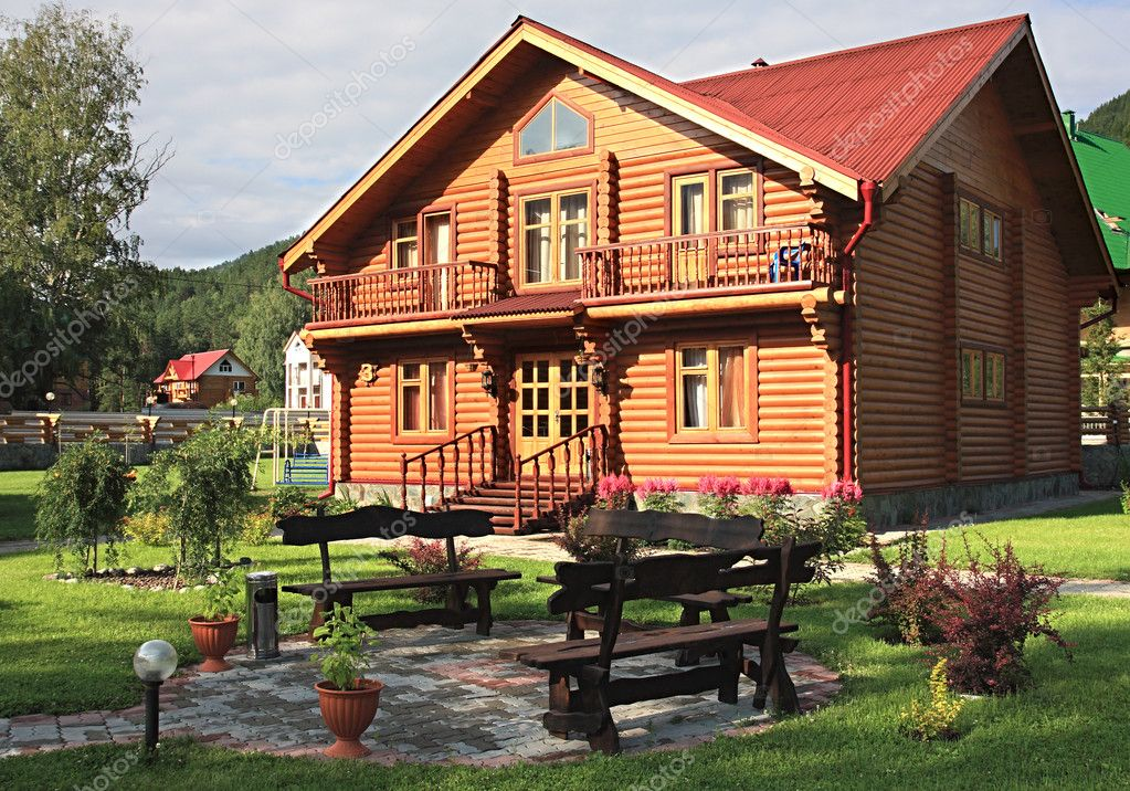 Wooden dwelling-house.