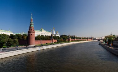 The Moscow Kremlin and the Moscow River