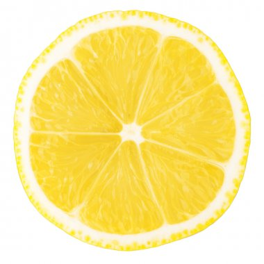 Macro food collection - Lemon slice. Isolated on white background stock vector