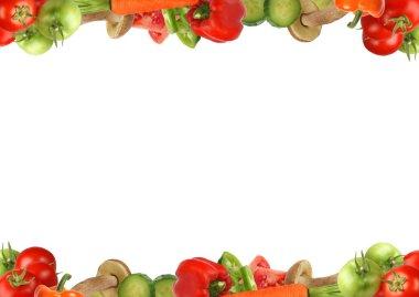 """Картина, постер, плакат, фотообои """"граница из овощей и грибов """", артикул 1761170"""
