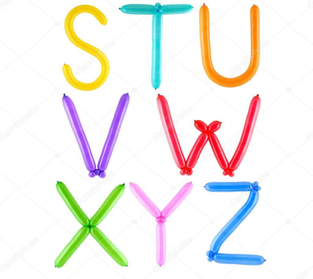Alphabet complet ballon photographie aradan 1259824 - Alphabet complet ...